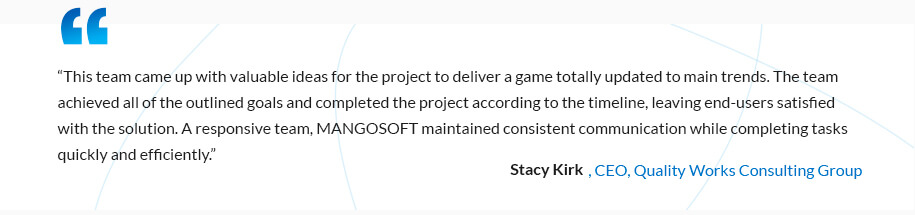 reviews about Mangosoft on Clutch
